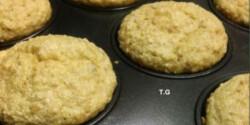Steviás almás-banános-túrós muffin