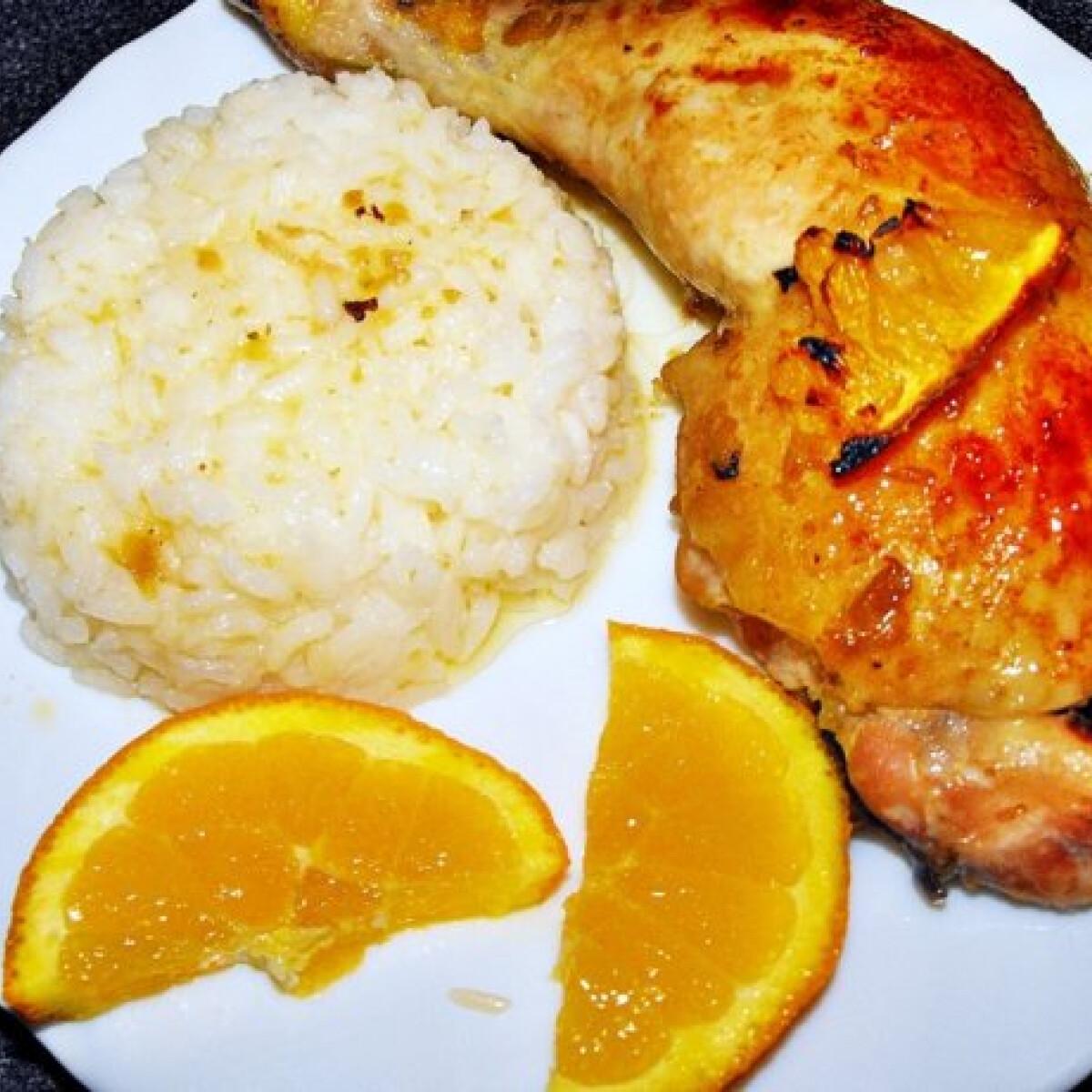 Ezen a képen: Mézes-mustáros csirkecomb naranccsal