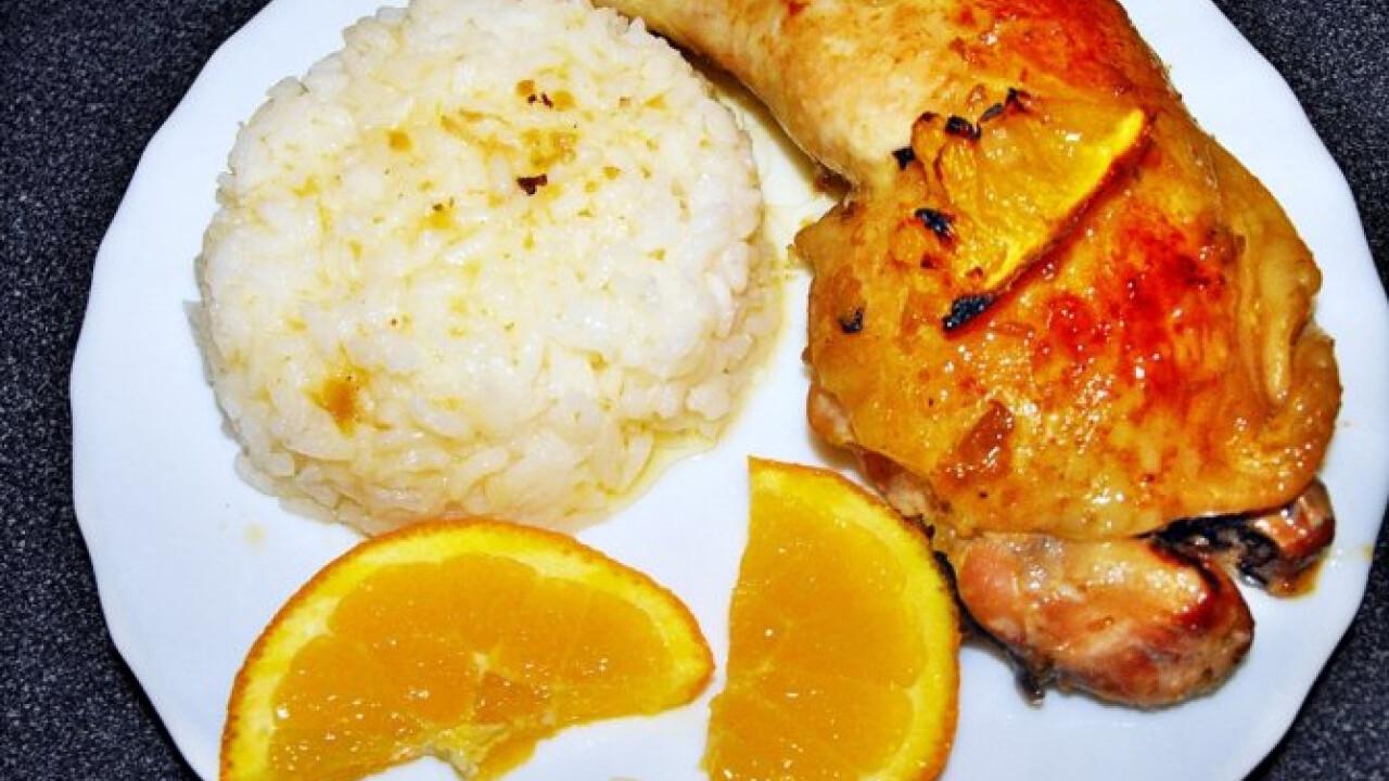 Mézes-mustáros csirkecomb naranccsal