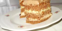 Kakaós-vaníliás-cseresznyedzsemes süti