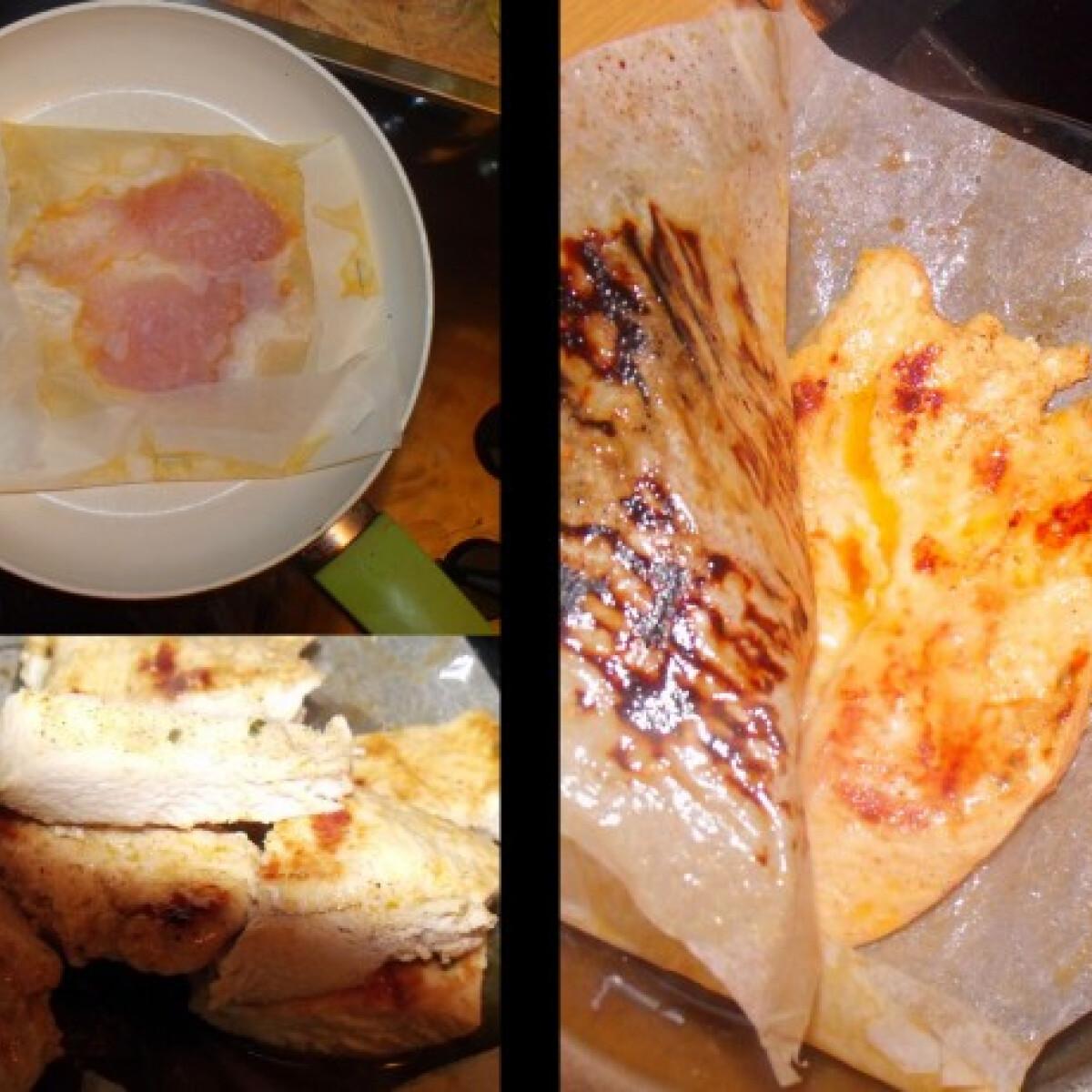 Ezen a képen: Csirke steak sütőpapírban