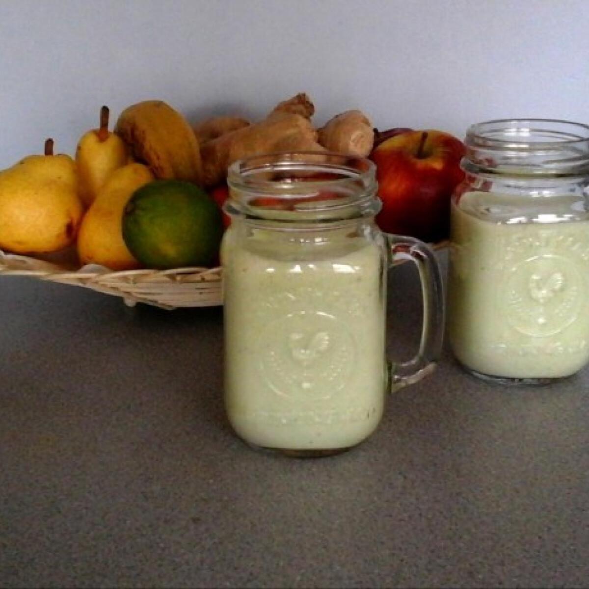 Ezen a képen: Lime- és cottagecheese-turmix