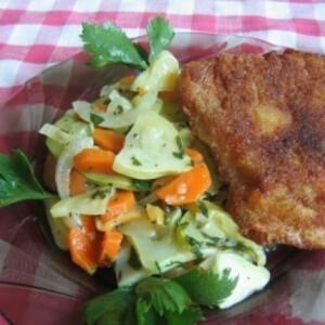 Párolt zöldségek köretnek