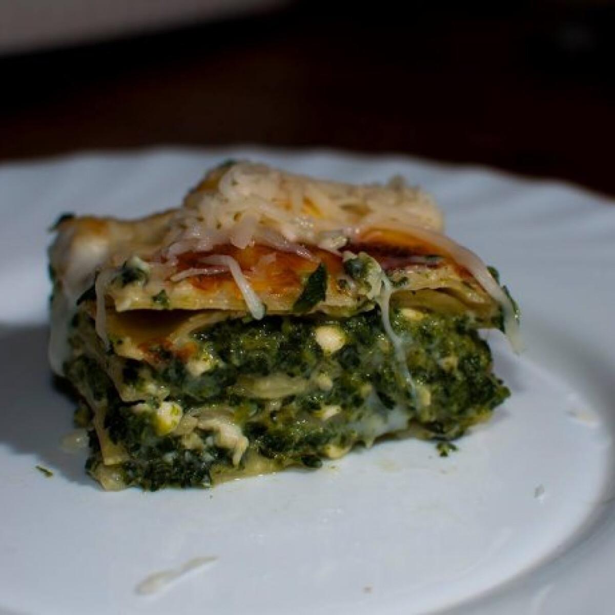 Spenótos lasagne Livee konyhájából