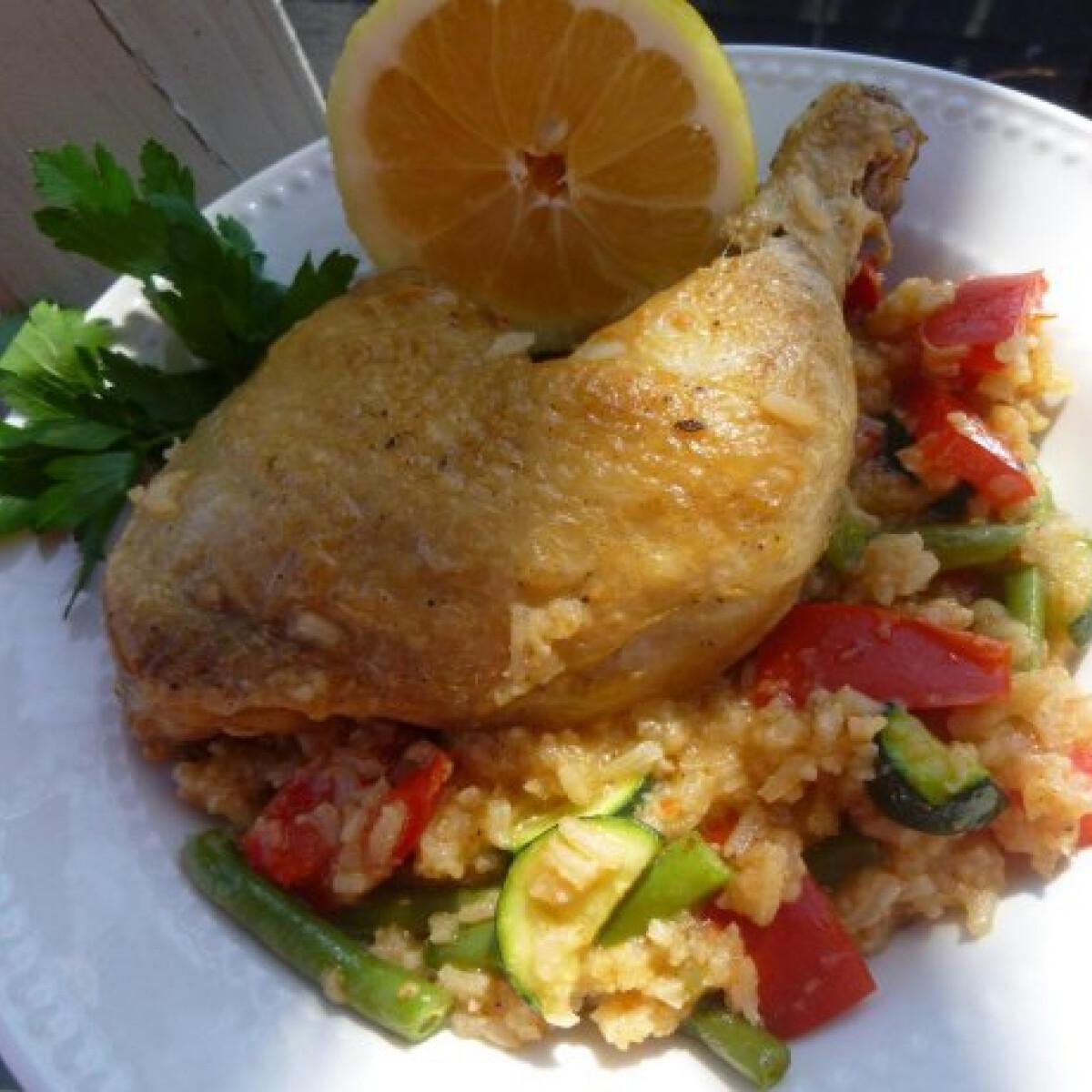 Kókuszos-rizses csirke