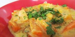 Pikáns sárgarépa-főzelék