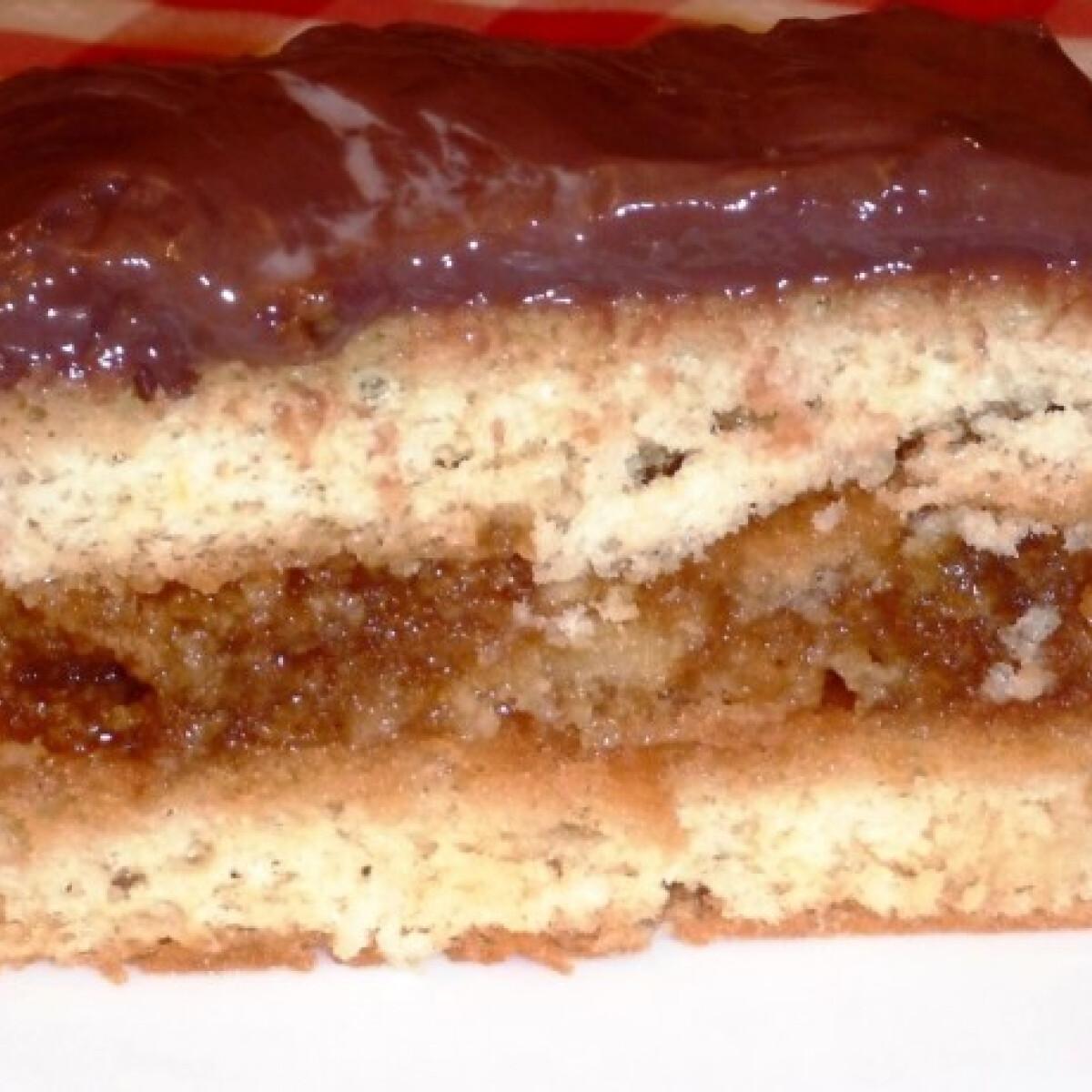 Ezen a képen: Csokis-lekváros süti CKatika konyhájából