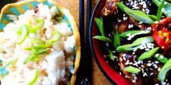 Moo shu sertés - kínai sertés, liliommal és uborkával