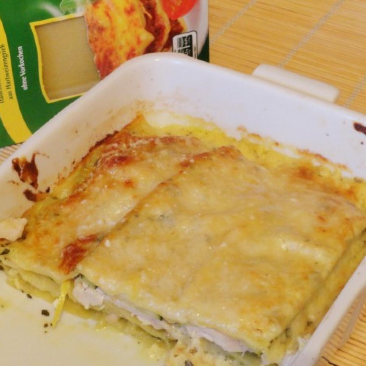 Csirkemelles cukkinis lasagne