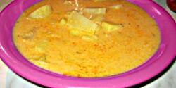 Tejföllel habart krumplileves