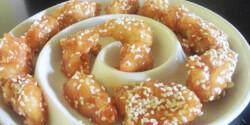 Kínai mézes-szezámmagos csirkemellfalatok