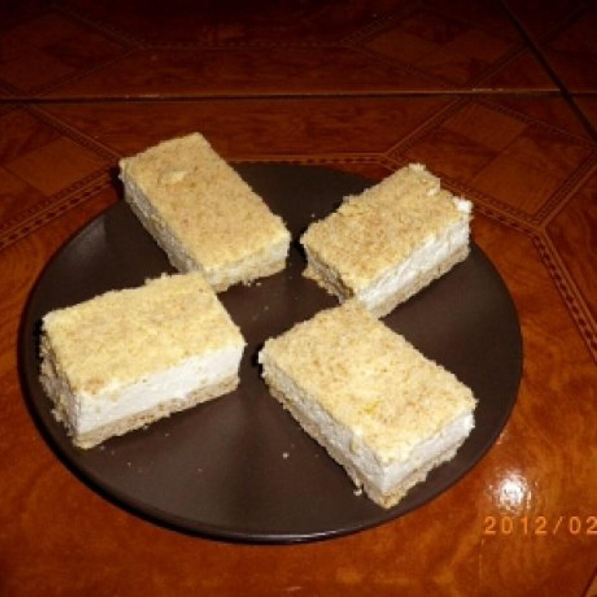 Angol szelet - tejfölös süti