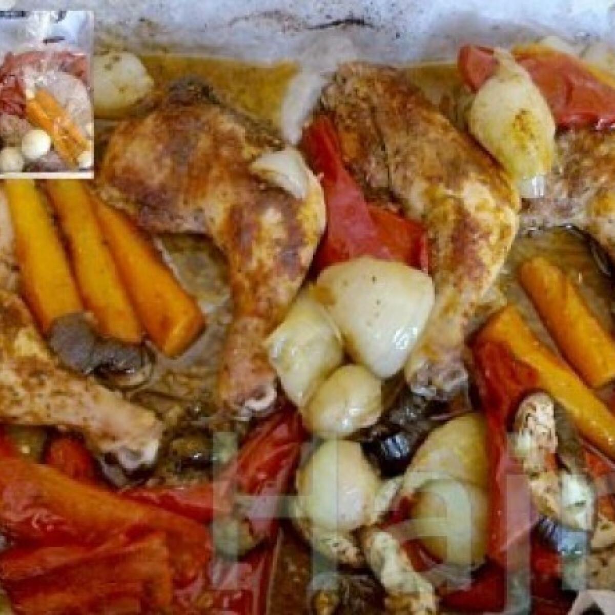 Ezen a képen: Zacskós csirke