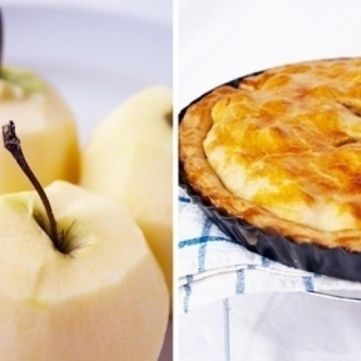 Ezen a képen: Amerikai almás pite - másképp