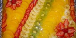 Gyümölcstorta gluténmentesen