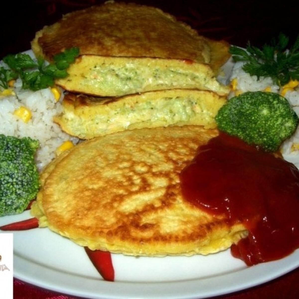 Kockasajtos-brokkolis fánk