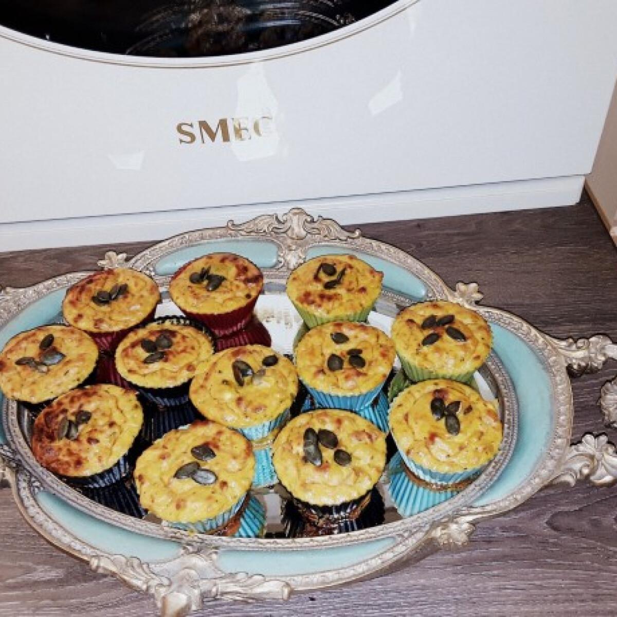 Ezen a képen: Őszi muffin sütőtökből