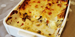 Gombás-gorgonzolás lasagne