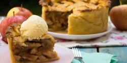 Rácsos almás pite ciderrel