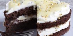 Csokoládés-vajkaramellás torta