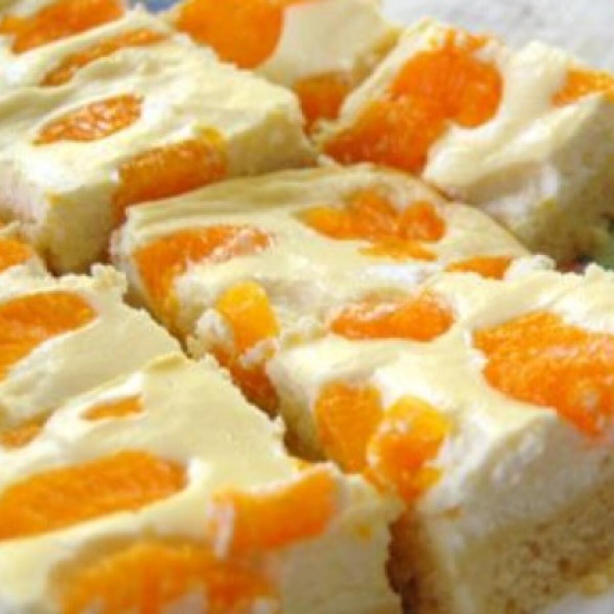 Ezen a képen: Mandarinos-túrós szelet