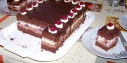 Csokikrémes-meggyes süti