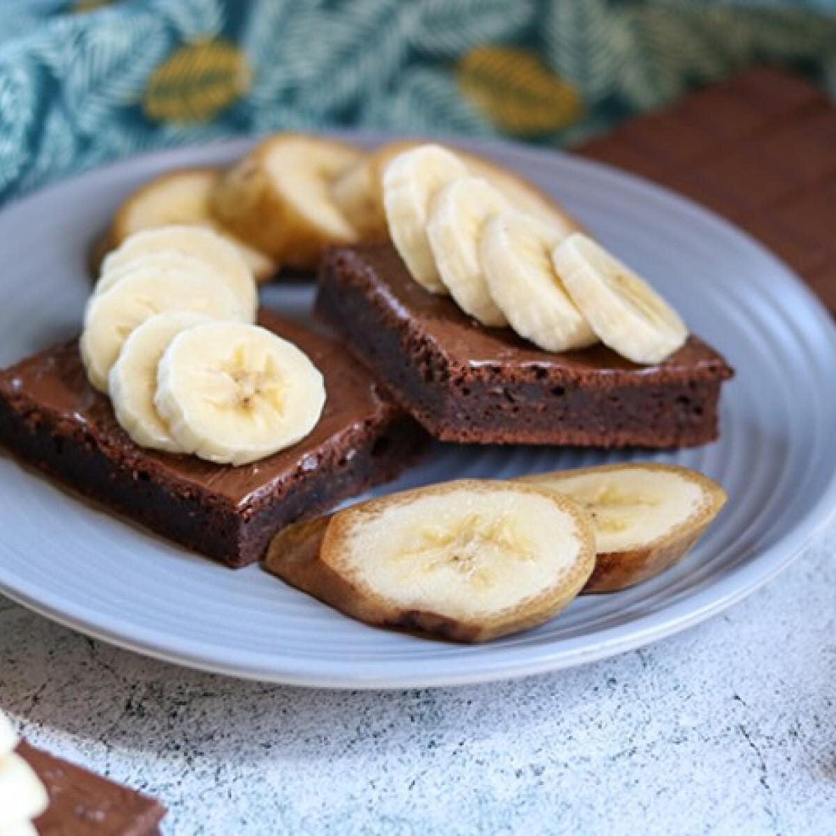Ezen a képen: Banános brownie