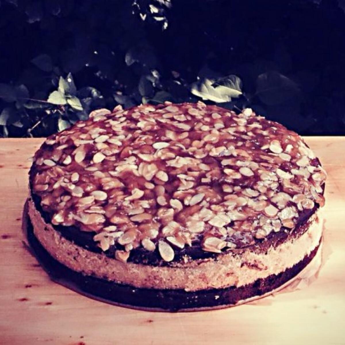 Banános brownie torta