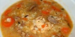 Becsinált leves rizsbetéttel