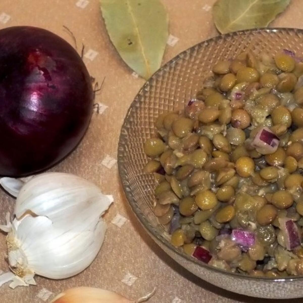 Ezen a képen: Lencsesaláta SüniSüti konyhájából