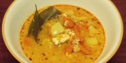 Krumplis-tojásos savanyú leves