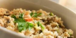 Zöldséges-pulykás-gombás rizottó