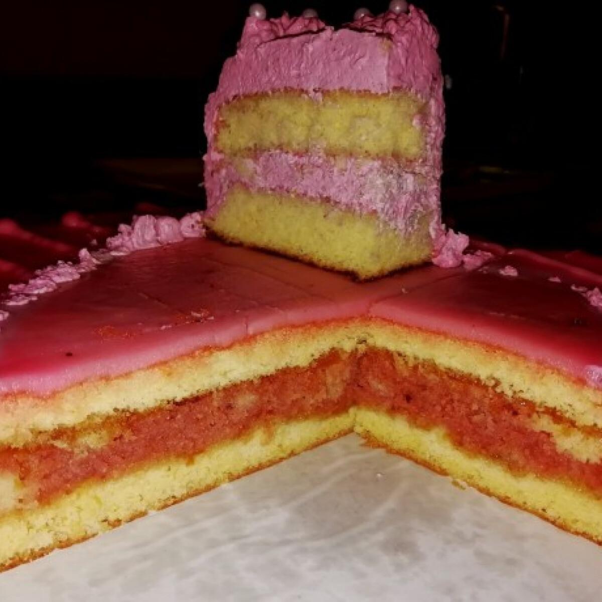 Puncsos, málnás-mascarponés, emeletes gluténmentes torta