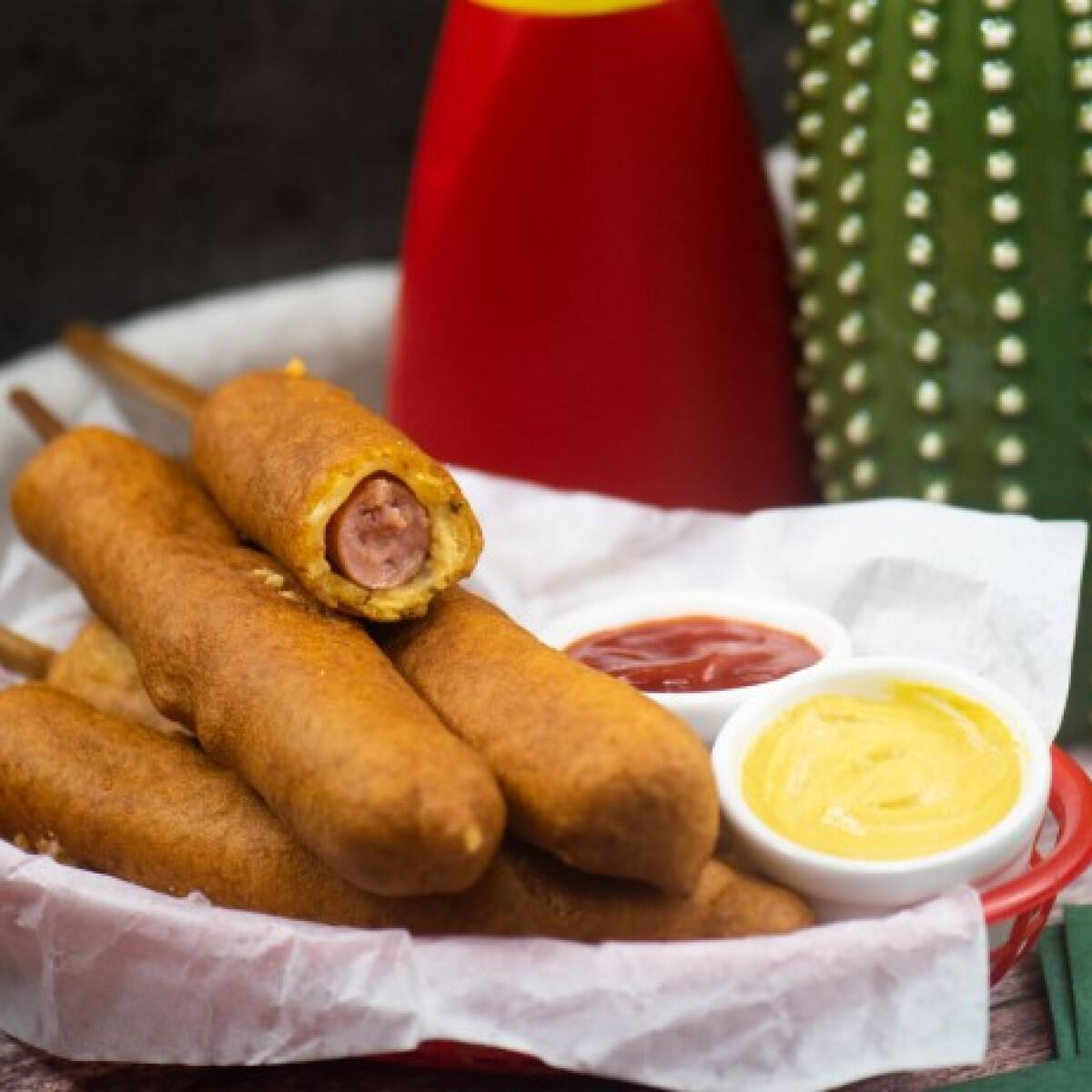 Ezen a képen: Gluténmentes corn dog