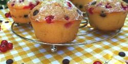 Ribizlis-csokicseppes muffin