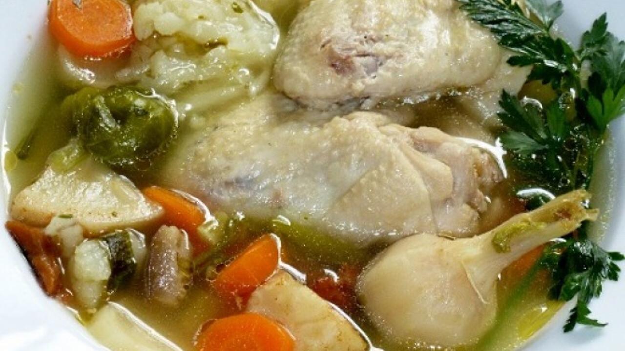 Csirkeaprólék leves Mártitól