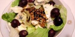 Gorgonzolás-diós saláta