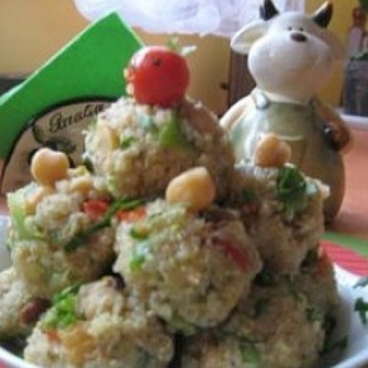 Pikáns quinoa csicseriborsóval