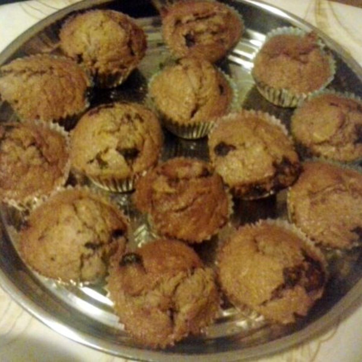 Ezen a képen: Almás-csokis muffin Chilu konyhájából