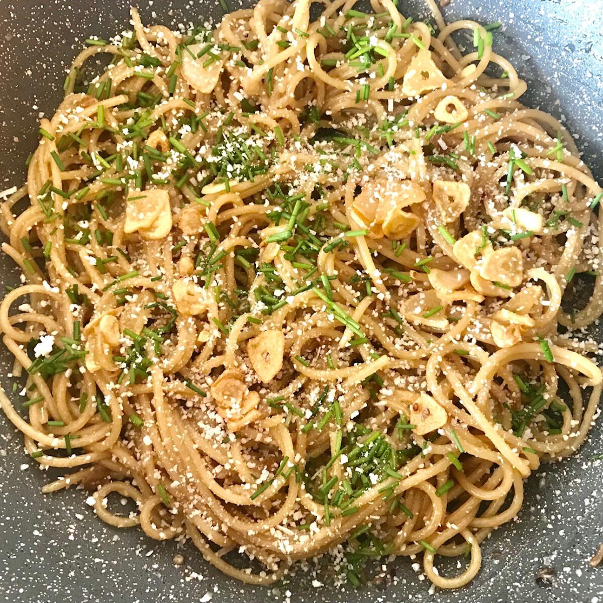 Csípős, fokhagymás spagetti