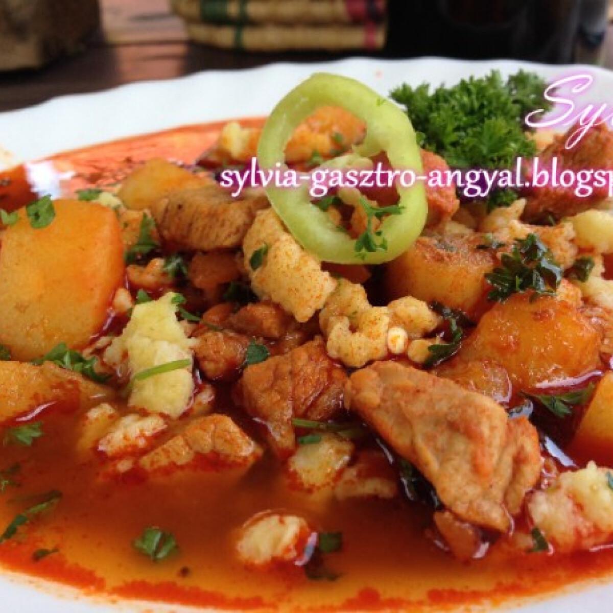 Ezen a képen: Bográcsgulyás Sylvia Gasztro Angyal konyhájából