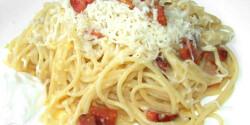 Császárszalonnás spagetti