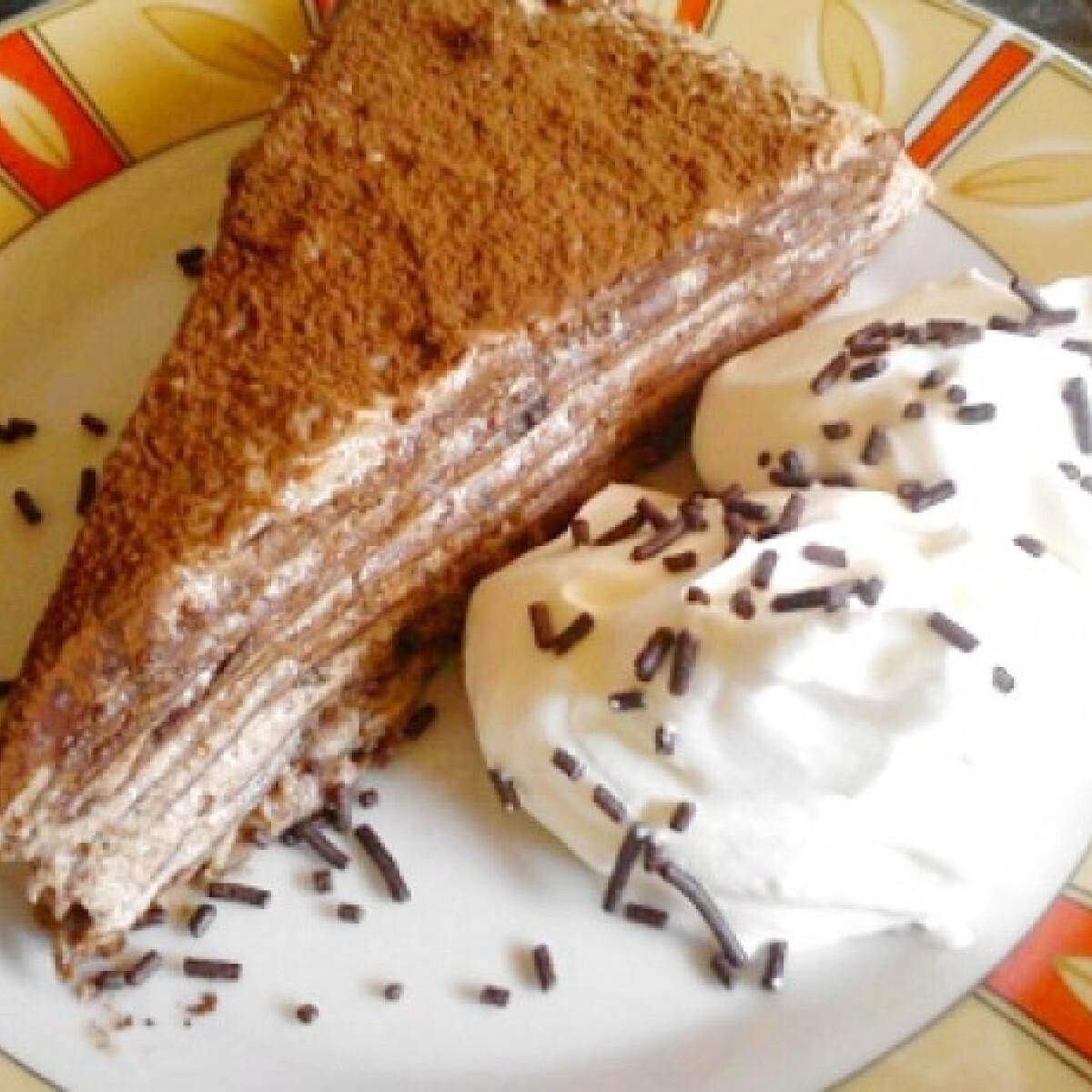 Ezen a képen: Csokis-mascarponés palacsinta