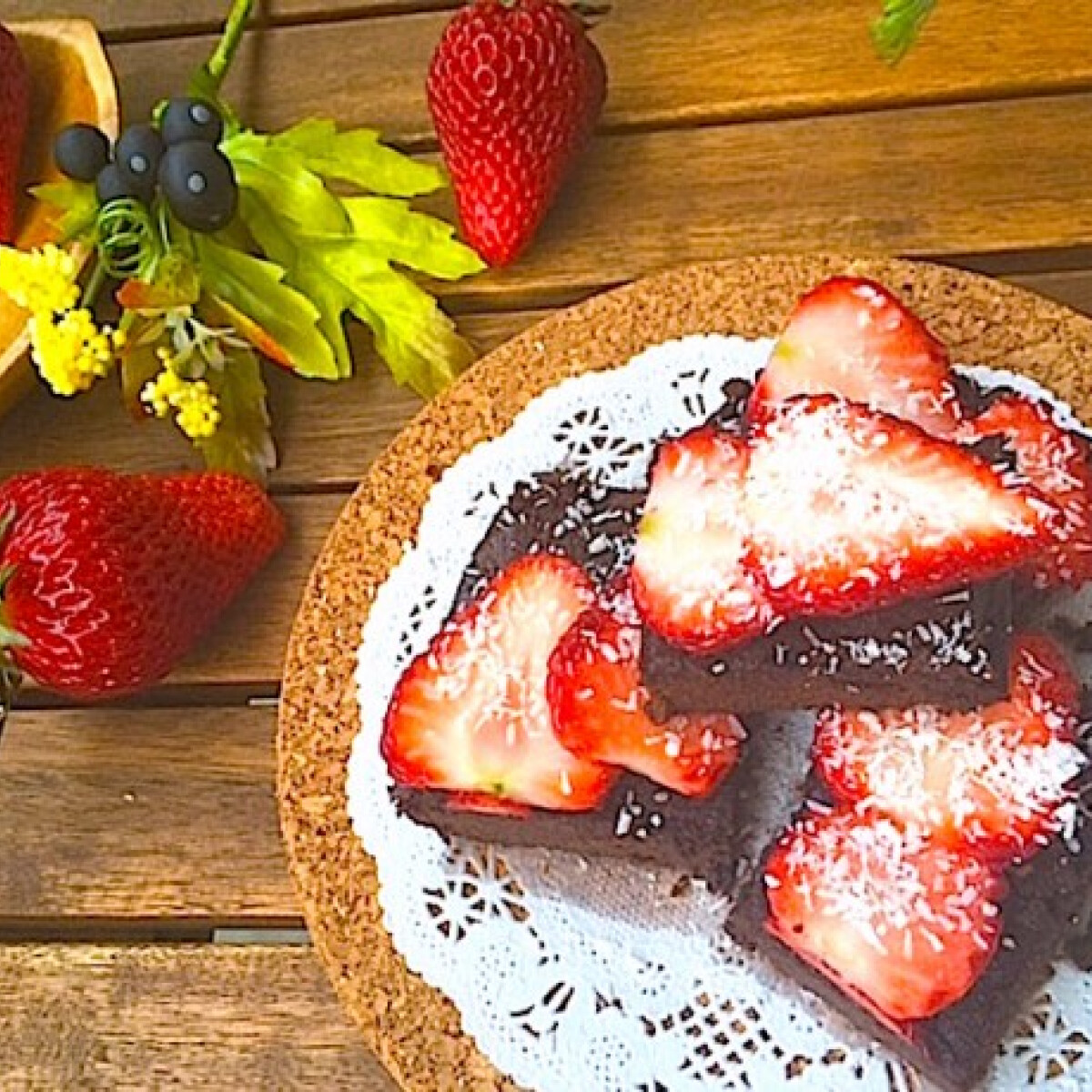 Ezen a képen: Gluténmentes egyszerű csokis brownie