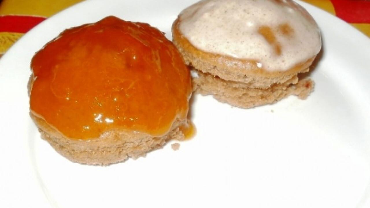 Csokis baracklekváros muffin
