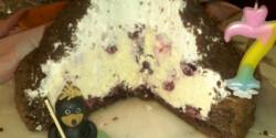 Szülinapi vakondtúrás torta