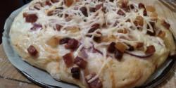 Házi sonkás pizza Ciccke konyhájából