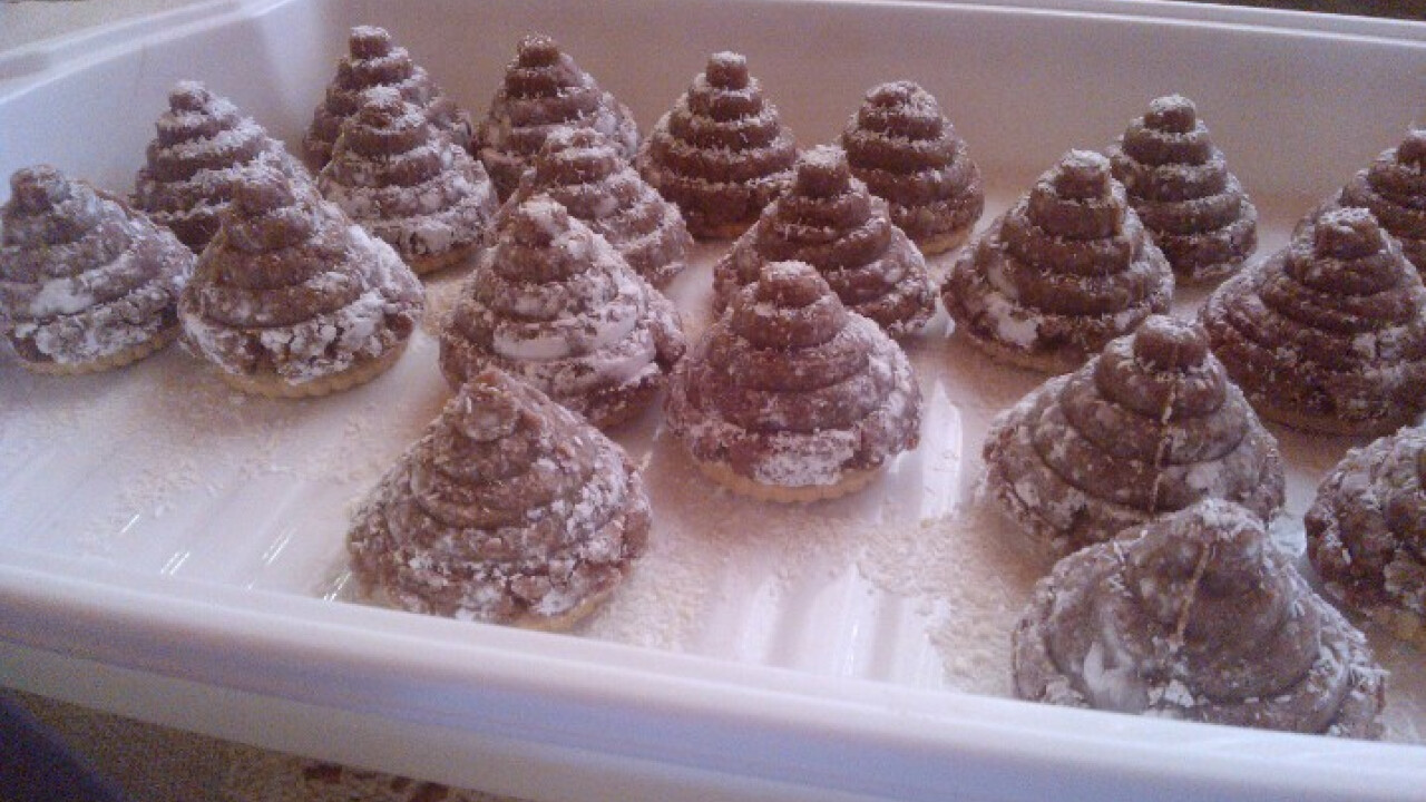Kakaós piramis süti