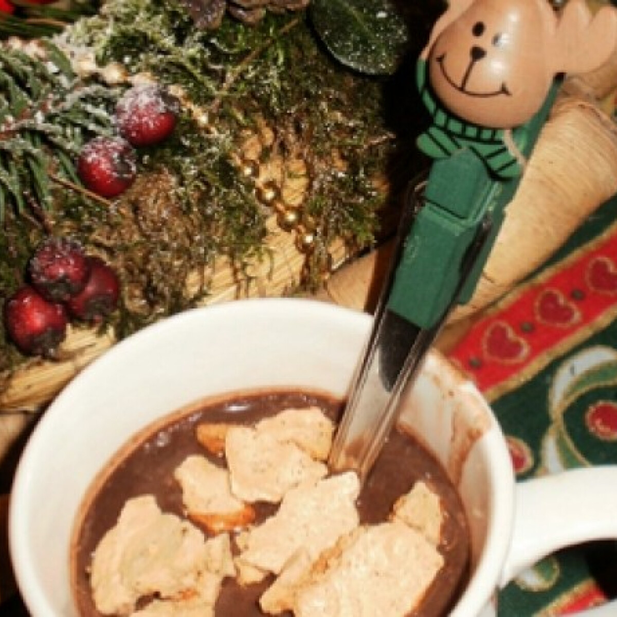 Ezen a képen: Mézeskalácsos forró csoki Malackától
