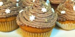 Diós-kakaókrémes cupcake